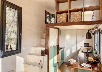 Intérieur de la tiny house de Jeremy